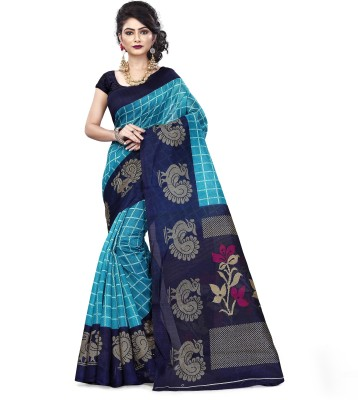 Vimalnath Synthetics Checkered Fashion Kota Silk Saree