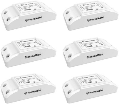 HomeMate WiFi Smart Switch (Pack of 6) | No Hub Required | Compatible with Alexa, G home and IFTTT