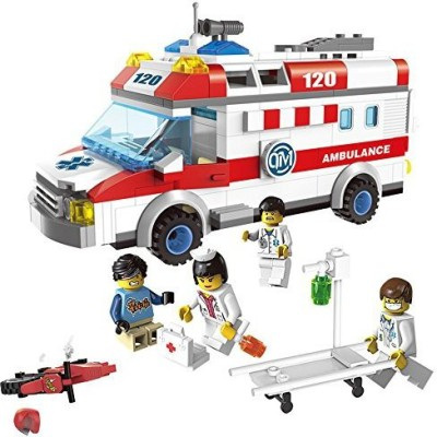Genrc Zhenyu Ambulance Nurse Doctor First Aid Stretcher Bricks Toys Building Block Sets Toys For Baby Gift