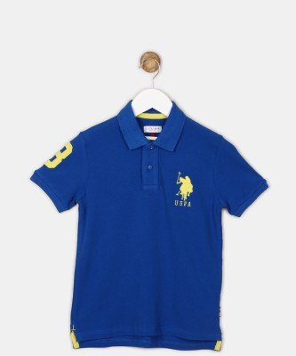 US Polo Kids Boys Solid Cotton T Shirt
