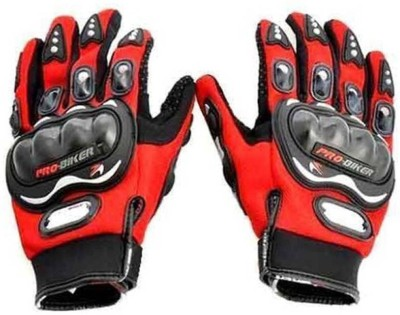 Probiker Full Riding/Driving/Cycling Sports Gloves/Riding Gear-AKZ2468 Riding Gloves (XL, Red)