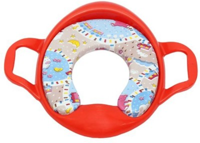 Ehomekart Cushioned Toilet Training Potty Seat with Handles-Red Potty Seat
