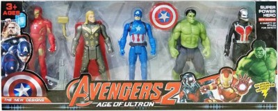 SHRIBOSSJI Team Avengers Set of Five Action Figures (Multicolor)