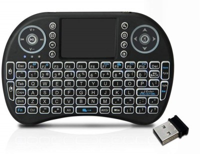 spincart Backlit Mini Wireless Multimedia Keyboard with Touchpad Mouse,3 Color RGB Backlight (Fn+F2 to Change) for Android TV Box HTPC PS3 XBOX360 Smart Phone Tablet Mac Linux Windows OS Wireless Multi-device Keyboard