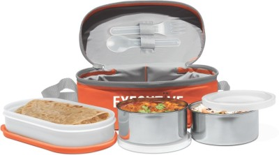 Milton Series 3 Container Insulated Lunch Box Orange 3 Containers Lunch Box