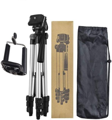 BUY SURETY Best Buy New Arrival Portable DSLR, Cmera mobile holder with long adjustable stand Nad flexible Clip and Aluminium Body Lightweight Tripod
