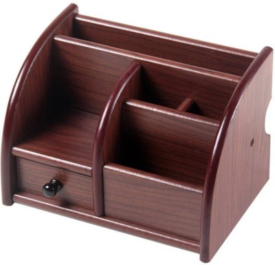 ShivExim 6 Compartments wooden pen stand