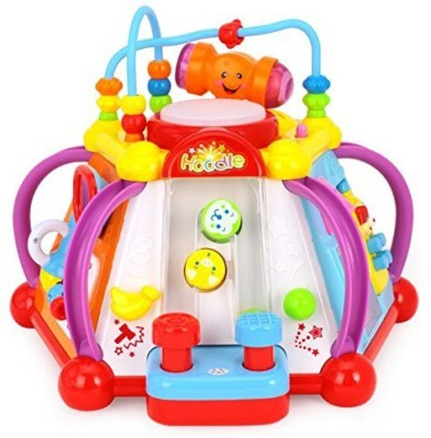 Happy GiftMart Happy Small World 5 Sides of Educational Fun Activity Gear Nobs for Toddlers & Baby