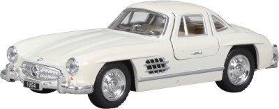 Miss & Chief Mercedes 300 SL Coupe Diecast Pull back Car White