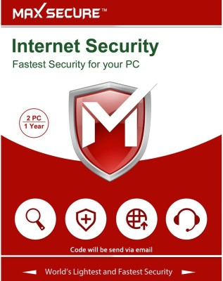 Max Secure 2 User 1 Year Internet Security (Email Delivery - No CD)