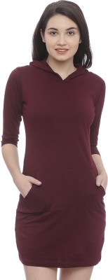 The Dry State Women's Bodycon Maroon Dress