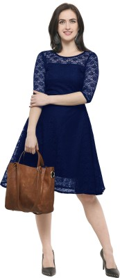 SHEETAL ASSOCIATES Women's A-line Blue Dress