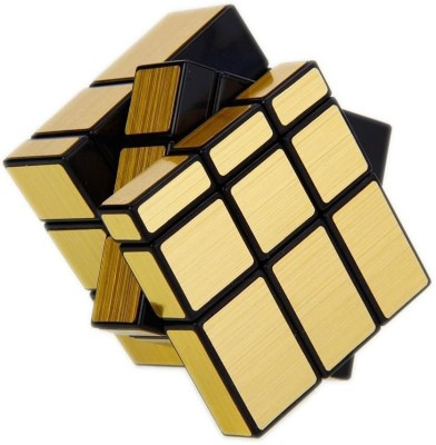 Miss & Chief High Speed Stickerless Gold Mirror Cube Puzzle Game Toy