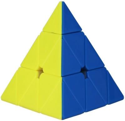 Extrawish Super Smooth Sticker less Pyramid Speed Triangle Cube Magic Rubik Cube
