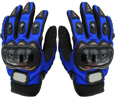 Shoolin Full Riding/Cycling Sports Gloves/Driving/Gloves Riding Gear Riding Gloves (L, Blue)