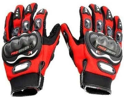 Shoolin Full Riding/Cycling Sports Gloves/Driving/Gloves Riding Gear Riding Gloves (XL, Red)
