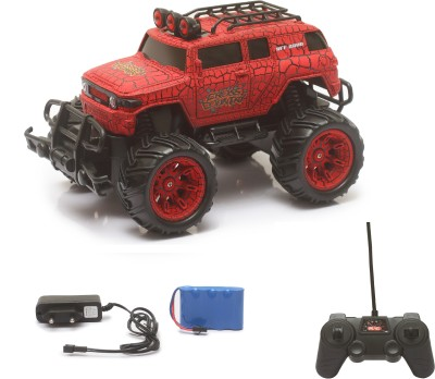 Miss & Chief Big and Mean Rock Crawling 1:20 Scale Modified Off-Road Hummer RC Car/Monster Truck (Red Head)
