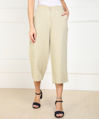 AND Relaxed Women Beige Trousers