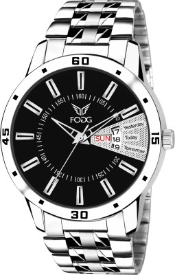Fogg 2034-BK-CK Day and Date Watch  - For Men