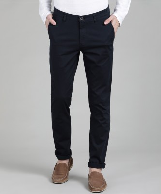 John Players Slim Fit Men's Dark Blue Trousers