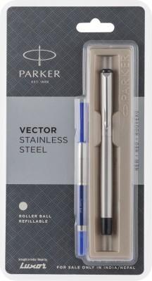 Parker VECTOR SS Roller Ball Pen CT Pen Gift Set