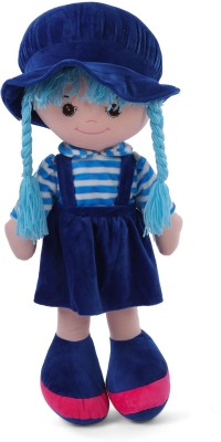 My Baby Excels Plush Doll Blue with Stripes 35 cm  - 35 cm