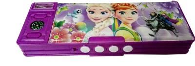 Art Box passowrd Password 4 digit protected, for girls, doll print Art Plastic Pencil Box