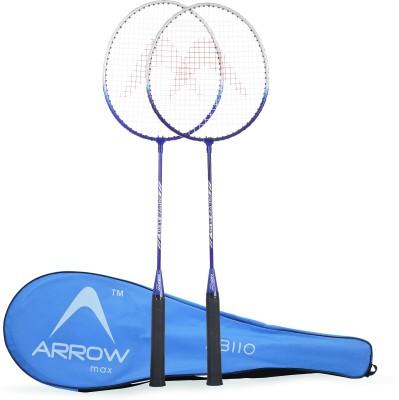 Arrowmax STEEL BADMINTON SET-2 PCS (AB110) BY ONE SHOT RETAIL Blue Strung Badminton Racquet