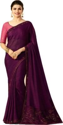 THE RED LION ENTERPRISE Self Design Bollywood Poly Silk Saree