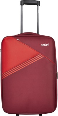 Safari ANGLE 56 2W RED SUITCASE TROLLEY Expandable  Cabin Luggage - 22 inch