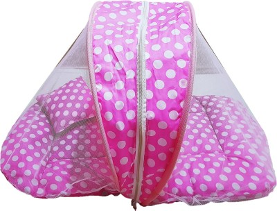 Dhuloom baby mosquito net, foldable baby bedding set polka new born baby gift set
