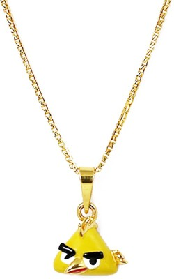 Bhima Jewellers Angry Bird Yellow with Chain Long and Short Chain Yellow Gold Precious Chain
