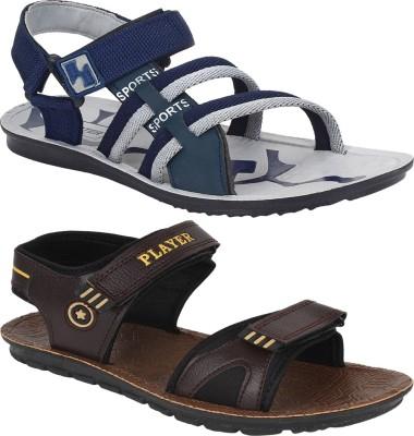 Oricum Men Brown, Navy, Beige Sports Sandals