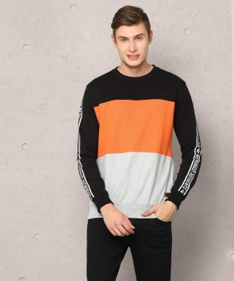 Metronaut Full Sleeve Solid Men Sweatshirt
