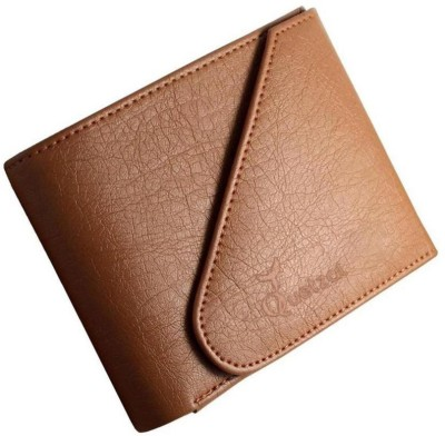 Quetzal Men Casual Tan Genuine Leather Wallet