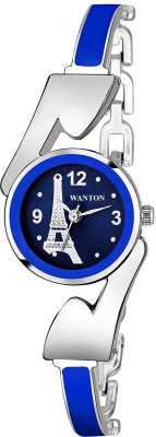 WANTON M1 stylish blue and silver eiffel tower design fancy and attractive watch for women Watch  - For Women