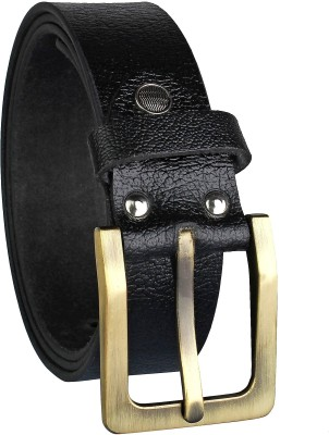 Alfami Men Evening, Party, Formal, Casual Black Genuine Leather Belt