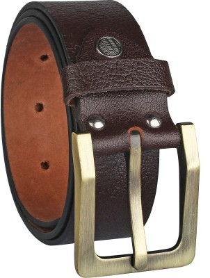 Alfami Men Evening, Party, Formal, Casual Brown Genuine Leather Belt