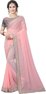 Ruchika Fashion Embroidered Fashion Georgette Saree
