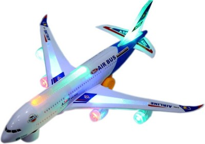 Be you own label BYOL MUSICAL TOY AIRBUS 380 WITH FLASHING LIGHT FOR KIDS