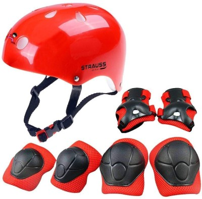 Strauss Protective Gear Set , (Red) Skating Guard Combo