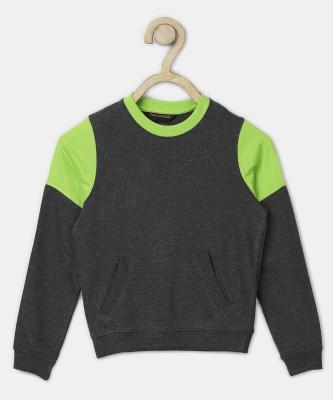 Provogue Full Sleeve Solid Boys Sweatshirt