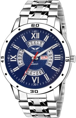 Lois Caron LCS-8098 BLUE DIAL DAY & DATE FUNCTIONING Watch  - For Men