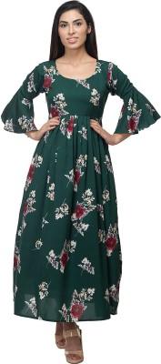 Kannan Women Maxi Green Dress