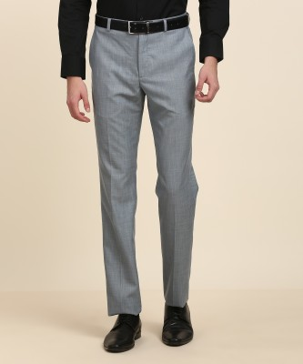 Arrow New York Regular Fit Men Blue Trousers