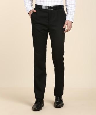 Arrow New York Slim Fit Men Black Trousers