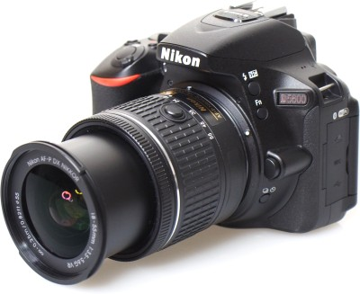 Nikon DSLR D5600 DSLR Camera with AF-P DX Nikkor 18-55 mm f/3.5-5.6 VR with and 16GB Memory Card and Loweoro BP150 Bag Free