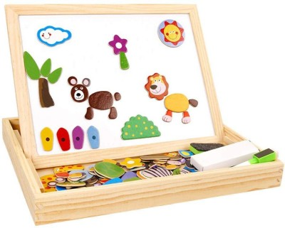 Assemble Wooden Educational Toys Magnetic Art Easel Animals Wooden Puzzles Games for Kids 02