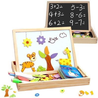Assemble Wooden Educational Toys Magnetic Art Easel Animals Wooden Puzzles Games for Kids 03