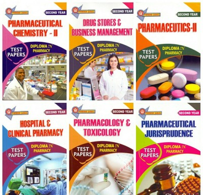 Diploma In Pharmacy Second Year Pack Of 6 Books,hospital & Clinical Pharmacy,pharmaceutical Jurisprudence,pharmaceutical Chemistry-Ii,drug Store Business Management,pharmacolog & Toxicology,pharmaceutics-Ii,( 2018 Editions)